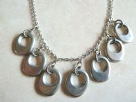Pewter Modernist Style Necklace